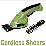 Hand Cordless Rechargeable Grass Shear & Trimmer 2 In 1 Metal Blades / Yard Garden Landscaping Landscape Home House Patio Backyard Design Gadgets Stuff Birthday Gift Botany Plant Gardening Vegetable Container Flower Planning Front Maintenance Contemporary Layout Planting Modern Shop Store
