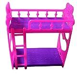 bismarckbeer Dollhouse Furniture Miniature Bunk Bed for Barbie Dollhouse Bedroom Kids Toy