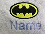 Hand Towel, Bath Towel or Bath Sheet Personalised with BATMAN logo and name of your choice (Bath Towel, 70x130cm)