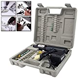 Bond Hardware Cordless Rechargeable Mini Rotary Dremel Style Drill Grinder Set Hobby Craft Model Making with 60 Accessories and Case
