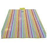 TOOGOO(R) Waterproof Carpet Blanket Outdoor Beach Camping Picnic Mat 150x80cm, Multicolor-Stripe