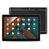 10.1' Inch Android Tablet PC, QIMAOO 2GB RAM 32GB Storage Phablet Tablet Quad Core Unlocked 3G Cell Phone Tablets, Dual Camera Sim Card Slots, Wifi, GPS, Bluetooth 4.0,1280x800 HD IPS Screen Display, Google Play (Black)