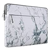 MOSISO Canvas Fabric Laptop Sleeve Case Bag Cover for 11-11.6 Inch MacBook Air, MacBook 12-Inch with Retina Display 2017/2016/2015 Release, Ultrabook Netbook Tablet, White Marble Pattern
