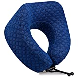 Soft Memory Foam Travel Pillow – The Ergonomic Design Provides Optimal Neck, Head and Shoulder Support - Extremely Soft and Comfortable Airplane Cushion – Adjustable Toggles for Perfect Positioning