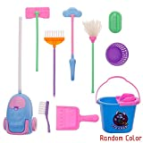 Teabelle Home Furniture Furnishing Cleaning Cleaner Kit For Barbie Doll House 9Pcs