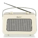 Vintage Style Quality DAB/FM Digital Radio Clock Radio Alarm Clock (Cream)