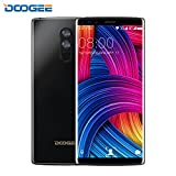 SIM Free Mobile Phones,DOOGEE MIX 2 Unlocked Dual SIM Cheap Phone,4G 7.1 Android Smartphones with 5.99 Inch FHD Display- Helio P25 Processor- 6GB+64GB- 8.0MP Dual Front Cameras-13MP+16MP Quad-Cameras- 4060mAh- USB Type-C,Face Unlock-Black