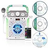 Singing Machine SML682BTW Bluetooth CDG Plus Tablet Karaoke Machine - White