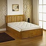IFC Veronica Storage Bed, Wood, New Oak, Double, 202 x 150 x 106 cm