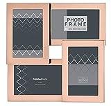 Innova Beautiful And Elegant Multi Opening Photo Frame, Rose Gold, 6 x 4-Inch