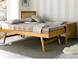 Happy Beds Toronto 3' Single Size Renowned Rubber Wooden Oak Guest Bed Frame