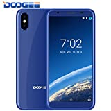 Mobile Phones Cheap, DOOGEE X55 Dual SIM Free 3G Unlocked Smartphones, 7.0 Android Phone - 5.5 Inch HD 18:9 Display - MT6580 Quad Core - 1GB RAM + 16GB ROM - Dual 8MP Rear Cameras - Fingerprint - Blue