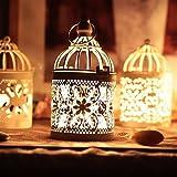 Gemini_mall Vintage Moroccan Metal Tealight Candle Holder Lanterns Wedding Home Table Decoration
