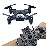 Koiiko WiFi FPV Drone with Camera, Watch Style Remote Control Pocket Drone 4CH 4Axis 2.4G Portable Foldable Mini RC Quadcopter Toy - Storage Case Box Included for Kids Birthday Present Christmas Gifts