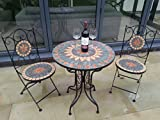 Fabulous French Style Ornate mozaic tiled Metal Garden Bistro Set