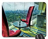 the red chairs with a view hdr Mouse Pad, Mousepad