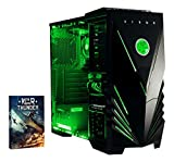 Vibox Vision 2 Gaming PC - with Warthunder Game Bundle (3.7GHz AMD A4 Dual Core Processor, Radeon HD Graphics Chip, 1TB Hard Drive, 8GB RAM, Vibox Predator Green LED Case, No Operating System)