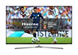 Hisense H65U7AUK 65-Inch 4K Ultra HD ULED Smart TV with HDR and Freeview Play - Silver/Black (2018 Model)