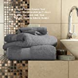 Egyptian Cotton Miami Jumbo Bath Sheet 700gsm Luxury Extra Large Thick Bathroom Towels Super Soft Combed Highly Absorbent High Quality Towels 100 x 180 Cm (Charcoal)