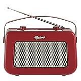 Vintage Style Quality DAB/FM Digital Radio Clock Radio Alarm Clock (Red)