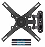 Mounting Dream TV Wall Mount Bracket Monitor Mount for most 10-39 Inch LED, LCD Flat Screen TV and Monitors, with Full Motion Swivel Articulating Arm, up to VESA 200x200mm and 15 KG, MD2463-L-02