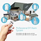 BIBENE Door Alarm System Home Security DIY Kit with 4 Zones,130DB 2in1 Host,Remote Control, Expandable 40 Wireless Door Window Motion Sensor,Password Required Alzheimers Burglar Alert Security System