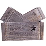 Star-Shaped Cut Out Wooden Crate Retail Display Storage Christmas Gift Hamper (Large)