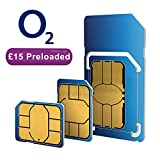 o2 dual/ triple payg sim card (standard, micro & nano) Preloaded with £15 prepaid credit. Works on any unlocked 2g, 3g and 4g mobile phone in the UK. Multi adaptor, will fit all phones like nokia 3310, android, Samsung s6, s7, s8, a5, apple ipad, iphone 5, 5c, 5s, se, 6 ,6s, 7, plus, moto g5, sony xperia. Cheap 02 pay as you go roaming for travel. Exchange £15 credit for 15gb data/month. Offered by: Bull-tech
