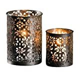 tealight candle holder made of metal 'paisley'