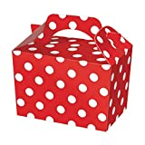 SUPER COOL KIDS PARTY BOXES - In a RED POLKA DOT design (happy meal type box) … (Pack of 40)
