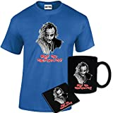 Mens Printed Why So Serious Batman Joker Inspired T Shirt, Mug, Coaster Gift Set