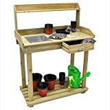 Wooden Potting Greenhouse Plant Flower Staging Table Bench Ptable / Yard Garden Landscaping Landscape Home House Patio Backyard Design Gadgets Stuff Birthday Gift Botany Plant Gardening Vegetable Container Flower Planning Front Maintenance Contemporary Layout Planting Modern Shop Store