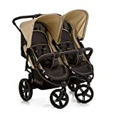 Hauck Roadster Duo SLX Side by Side Double Pushchair, from Birth, Black/Beige