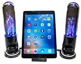 Bluetooth Dancing Water Speakers with Docking Station for iPhone 5,5c,5s,6,6s,6+, 6SE, 7, 8 ~ iPod Touch 5th & 6th Gen ~ IPod Nano 6th-8th Gen ~ iPad Mini & iPad Air ~