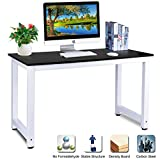 Computer Desk, DOSLEEPS Office Study Desk Computer PC Laptop Table Workstation Gaming Table for Home Office, Black Wood Grain