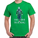 Mens Funny Printed T Shirts-One True King-White Walker Game of Thrones Inspired
