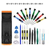 Repair Tool Kit 25pcs Precision Screwdriver Magnetic Set for Phones Iphone Computers PC Tablets Pads iPad Pro Watch and More Small Household Appliances Electronic Devices Pry Open DIY Tools Kits Set