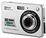 Aberg Best 21 Mega Pixels 2.7' LCD Rechargeable HD Digital Camera - Digital video camera - Students cameras - Indoor Outdoor for Adult /Seniors / Kids (Silver) (SILVER)