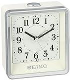 Seiko 'BEDSIDE' Plastic Alarm Clock, Color:Silver-Toned (Model: QHE142WLH)