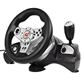 NanoRS RS600 Racing Steering Wheel + Pedals Gaming Controller Vibration Feedback PS3/PS2/USB/PC/Xp/Vista/Win7/Win8/Win10