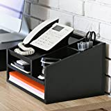 Fitueyes Wood Desktop Office Organiser Phone Stand Sticky Note Pad Holder Message Centre TR303501WBUK