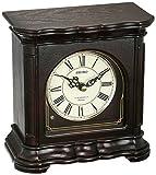 Seiko 'MANTEL-MUSICAL' Wood Shelf Clock, Color:Dark Brown (Model: QXW243BLH)