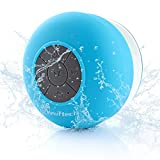Mini Portable Speakers Neuftech HIFI Waterproof Shower Pool Wireless Bluetooth Speaker with Suction Cup Handsfree, Up to 5-Hour Playtime, Built-in Microphone for Calls for iPhone, iPod, iPad, Samsung, Echo, LG and others (Blue)