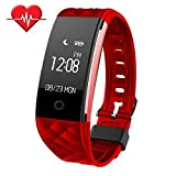 Fitness Tracker, BigFox Smart Watch Heart Rate Monitor Smart Bracelet Activity Tracker Watch Pedometer Wristband Sleep Monitor Touch Screen Waterproof Smartwatch for Android and iOS Smartphones Such as iPhone 7/7 Plus/6s/6/5/5S, Samsung S8/S7, Huawei, LG