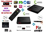 Android Tv Box Fully Xtreme 2018 tv box KODI 17.6 ultimate machine takes you to another dimension 4X CPU Marshmellow 6.0 AMLOGIC s905 cortex A53 64BIT 2Ghz Wifi 4K UHD H.265 Lan smart tv box quad core 8GB 2GB ULTRA HD Ethernet port, wifi play games movies without freezing and buffering high speed DONT JUST WATCH IT 'JUMP IN'