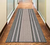 Rugs Superstore NEW GREY SILVER ANTHRACITE COLORFUL MODERN WASHABLE NON SLIP KITCHEN UTILITY HALL LONG RUNNER DOOR MAT RUG (5 SIZES AVAILABLE) (80x150cm (2'6 x5'))