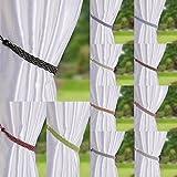 Pair Of Braided Satin Rope Curtain Tie Backs (White)