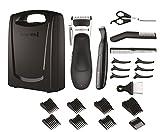 Remington HC366 Stylist Hair Clipper Set (Hair Clipper, Detail Trimmer, Scissors, Comb and Neck Brush), 25 Pieces - Black/Silver