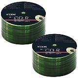 TDK 25-200 PACK CDR BLANK DISCS CD-R RECORDABLE CD 80 MINS 52X 700MB (50)