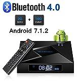 Globmall 4K Android 7.1 TV Box, 2018 Model X4 Smart TV Box 2G RAM 16G ROM Amlogic Quad Core ARM Cortex A53 @2GHz with HDMI 2.0A Bluetooth V4.0